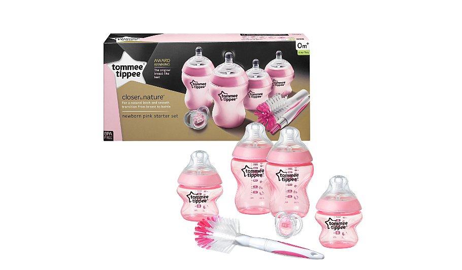 Tommee Tippee Closer to Nature Newborn Starter Set - Pink £12 @ Asda