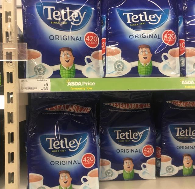 Tetley Teabags 420 for £5 at Asda