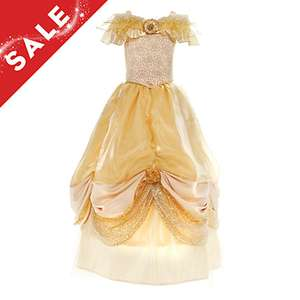 Belle premium dress for kids, was £250, then £100, now £50 on the Disney Store