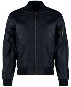 Mens Navy Coated Bomber Jacket usually £39.99 now £10 @ BluInc