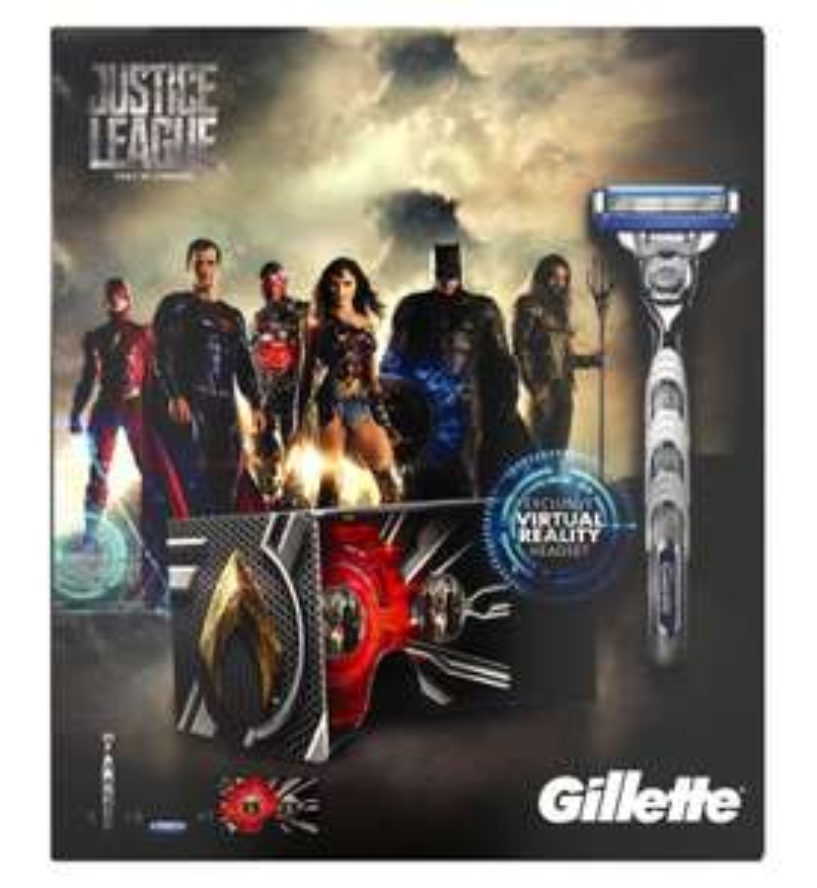 Gillette Mach3 Turbo Men's Razor Justice League Gift Set - 3 Blades - £3 - Boots - Lowestoft