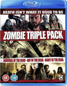 Zombie Triple Blu-Ray Boxset (Survival Of The Dead/Day of The Dead (Remake)/Diary of The Dead) [Blu-ray] £3.99 delivered @ 365Games [George A. Romero]