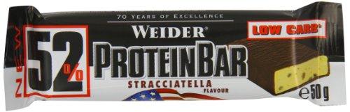 Weider Stracciatella 50g 52 Percent Protein Bar - Pack of 24 Bars £6.92 Prime / £11.67 Non Prime @ Amazon