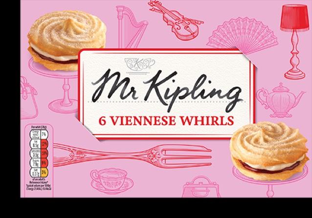 Mr Kipling Viennese Whirls 6pk 82p @ Tesco