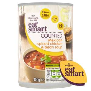 Morrison's eat smart soup 45p plus 300 more points