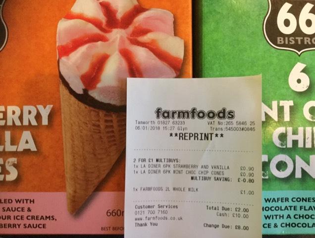 12 LA Diner Cones £1 @ Farmfoods