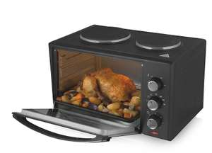 Tower T14013 1000W 28L Mini Electric Oven with Twin Hotplates - Robert Dyas - £59.99