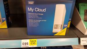 WD My Cloud 2tb £95 instore @ Tesco Extra Beckton