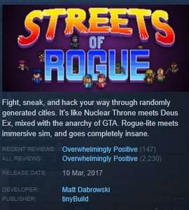 Streets of Rogue (PC) £5.49 @ Steam