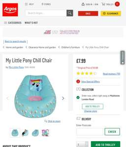 My Little Pony Chill Chair was £19.99 now £7.99 @ Argos