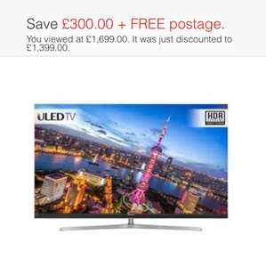 Hisense H65NU8700 65 Inch Smart LED TV 4K Ultra HD Freeview HD 3 HDMI TV reduced by £300 now £1300 @ AO Ebay