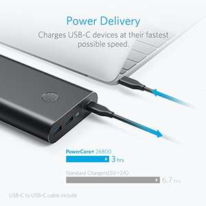 Anker PowerCore+ 26800 USB C with PD/30W output. Plus 2 USB C to micro adapters £50.63 @ Amazon France (sold by AnkerDirect FR & FBA)