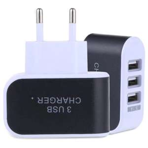 3 USB Ports 5V 3A EU Travel Charger £1.20 or £1.08 buying with the app @ GearBest