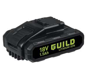 1.5Ah 18v Lithium Ion battery for Guild, Worx, Erbauer, Titan, JCB(?), Wickes(?), etc.  Just £14.99 (reduced from £19.99 and cheapest seen).  At Argos.