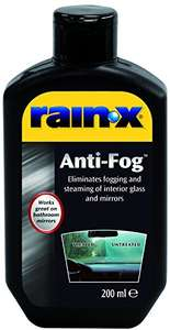 Rain X Anti Fog Glass Treatment 200ml bottle, £3.00 Prime / £6.99 Non Prime @ Amazon