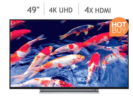Toshiba 49U6763DB 49 Inch 4K Ultra HD Smart TV £348.99 @ Costco includes 5 year Warranty.