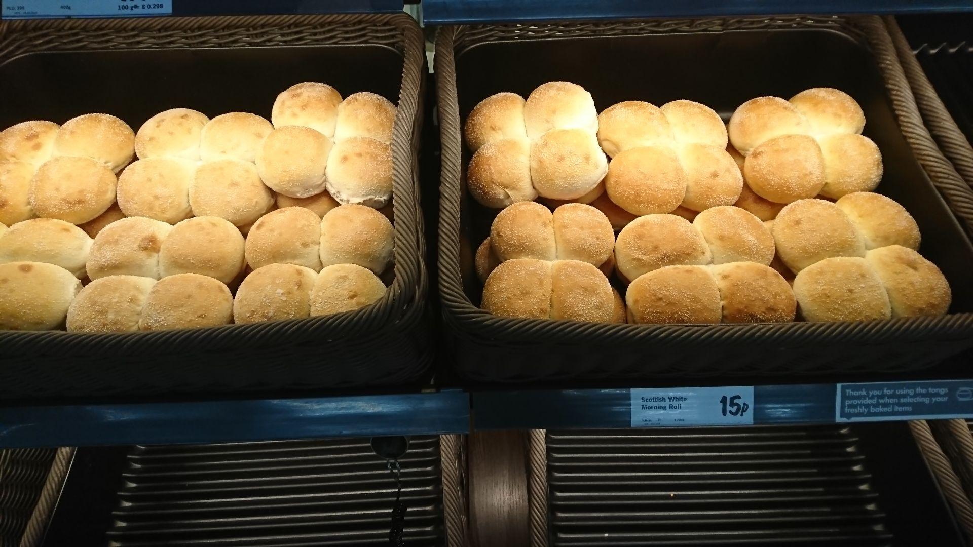 Scottish morning rolls 15p at Lidl Bakery