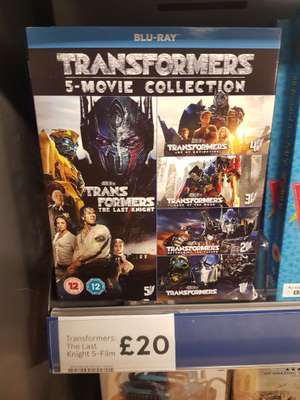 Transformers 5 film bluray collection £20 (tesco)