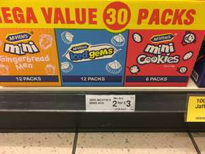 60 pk mcvities minis box £3.00 @ Farmfoods