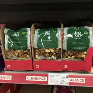 Co-op mixed nuts reduced to 75p