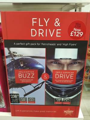 Helicopter Buzz & Triple Drive gift experience £129 in Debenhams