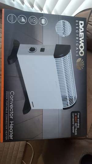 2000W Daewoo Convector Heater £12.99 @ Home Bargains