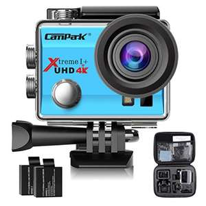 Campark Action Cam 2.0 Inch Wifi 4K Action Camera £31.49 - sold by Campark Direct and Fulfilled by Amazon Lightning Deal