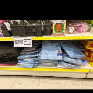 Poundland school uniform including adult shirts reduced to clear for 25p & 50p instore Rutherglen