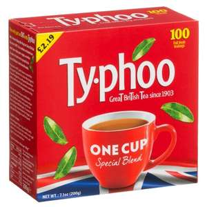 100 Typhoo onecup round tea bags- B&M instore- 99p