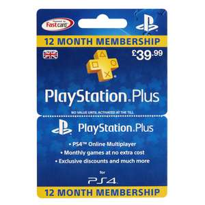 Playstation Plus 12 month subscription - £39.99 - instore only @ Wilko