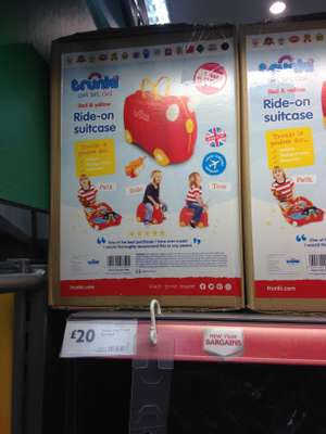 TRUNKI Ride-on suitcase £20 Morrisons instore - Neath