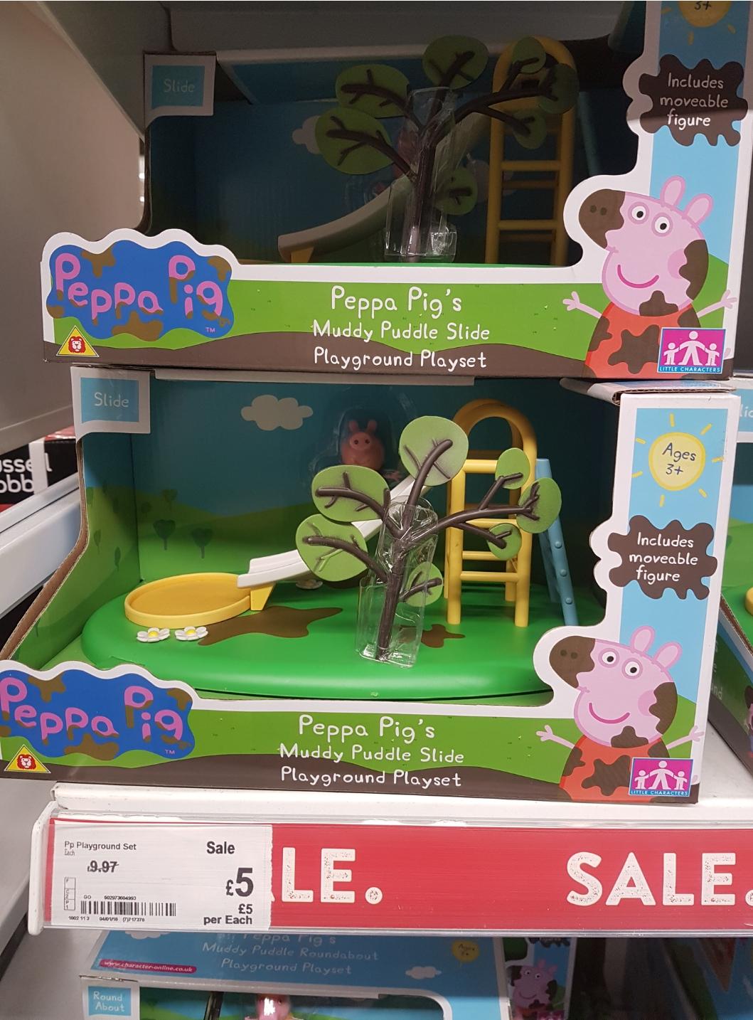 Peppa Pig playground sets various designs, £5 at Asda