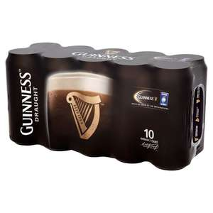 Guinness Draught 10 X 440ml £8 in store Asda