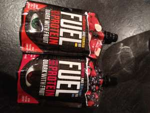 Home Bargains Fuel 10k High Protein Quark & Fruit 150g breakfast pouch £0.69 2 flavours