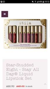 Star-Studded Eight - Stay All Day® Liquid Lipstick Set - £22.50 Delivered @ Stila