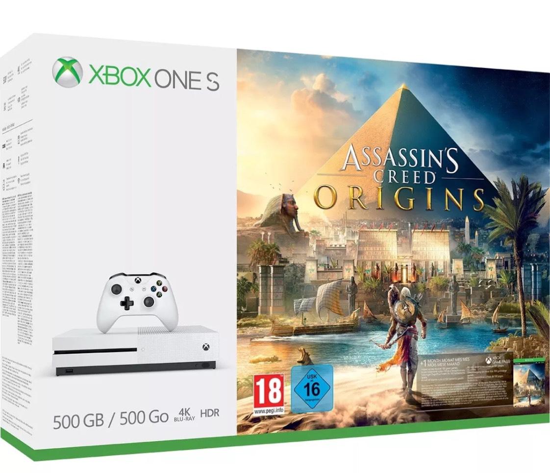 XB1 S 500GB Assassins Creed Origins Bundle £189.85 @ ShopTo Ebay