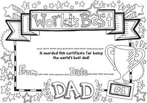 Free Father's Day Card & Father's Day Certificate Download _ hobbycraft
