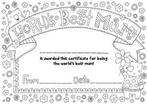 Free Mother's Day Card Colouring & Mother's Day Certificate Download _ hobbycraft