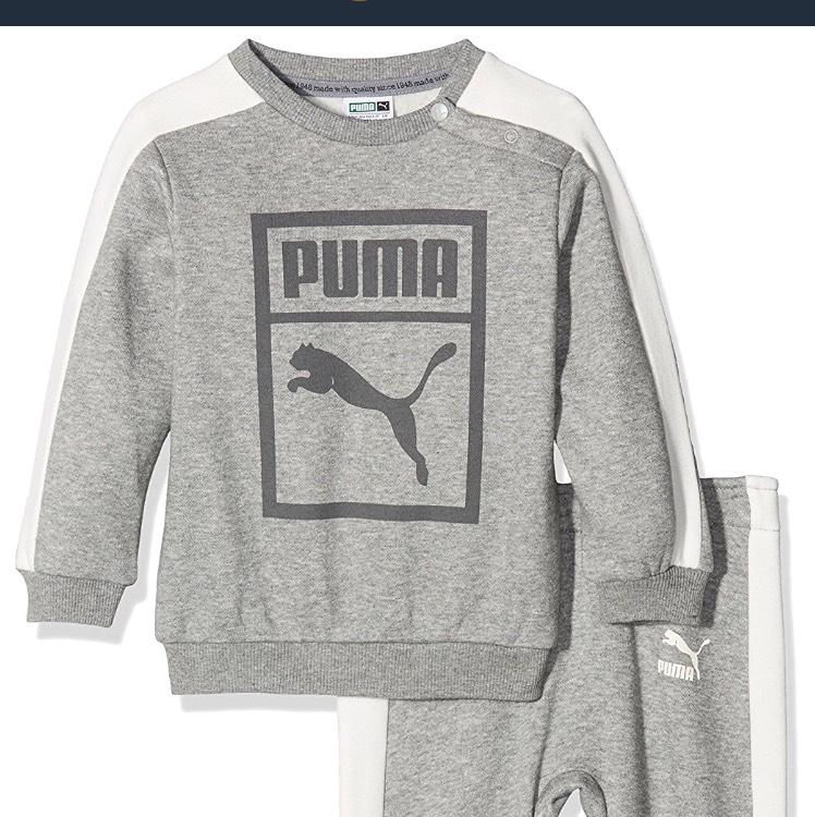 Puma Children's Minicats Classic Crew Jogger Suit @ Amazon - Prices Start at £6.66 (plus £3.99 P&P non-Prime)