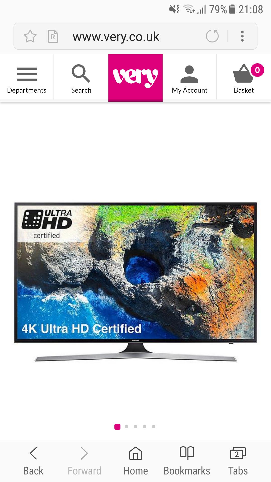 Samsung 4k tv 55 inch certified smart tv - £549 @ Very