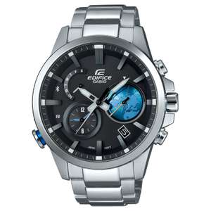 Casio Edifice Bluetooth Globe Dial & World Time Watch £188.10 @ h.samuel