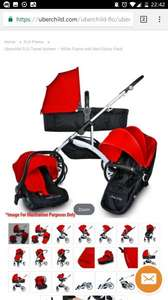 Full travel system with red colour pack £179.99 @ UberChild