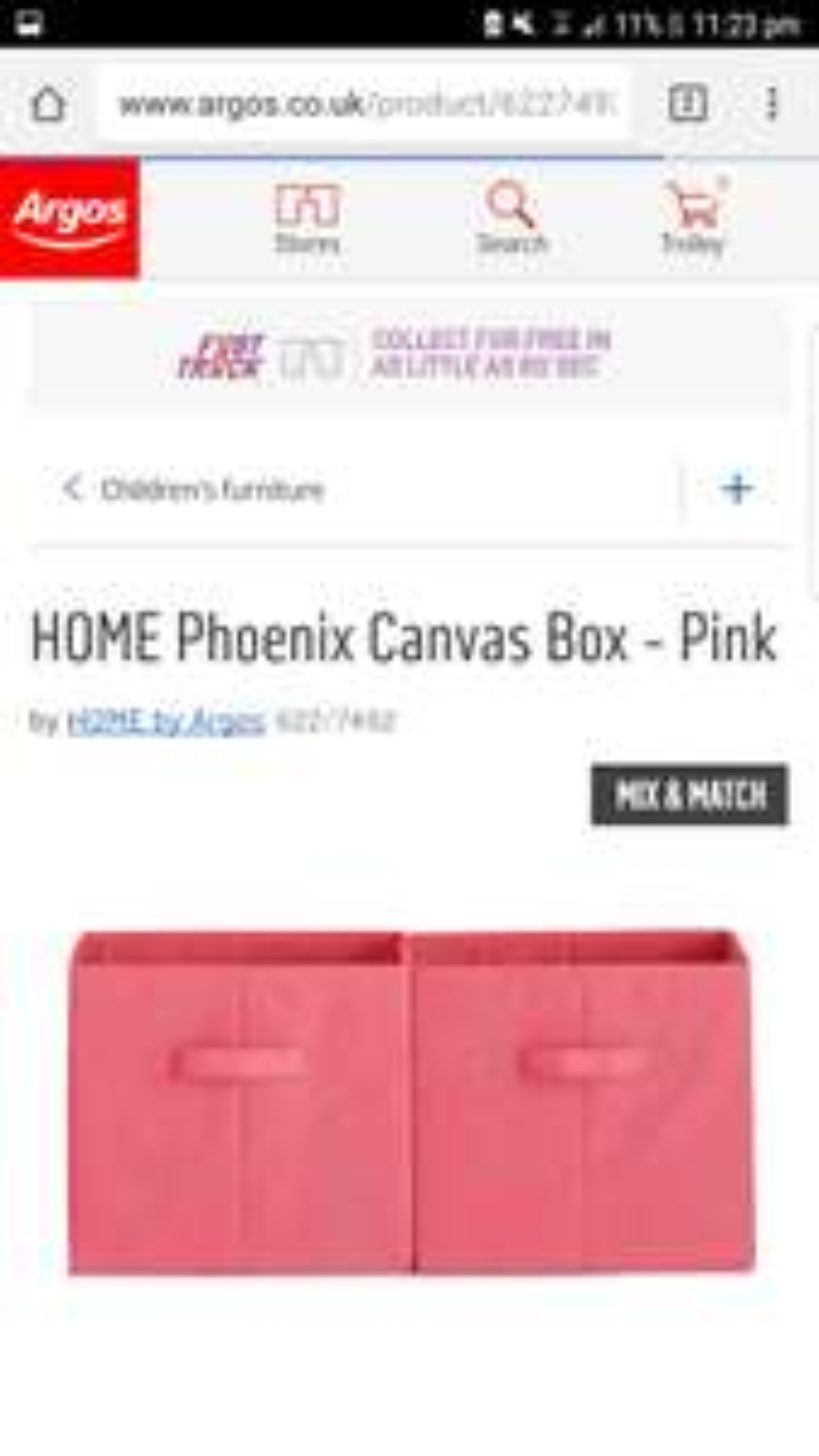 HOME Phoenix Canvas Box 2 set for £5.98 @ Argos
