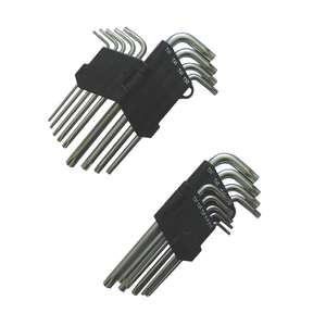 LONG ARM TORX KEY SET 9PCS £1.49 click and collect in store @ Screwfix 1 Year Guarantee
