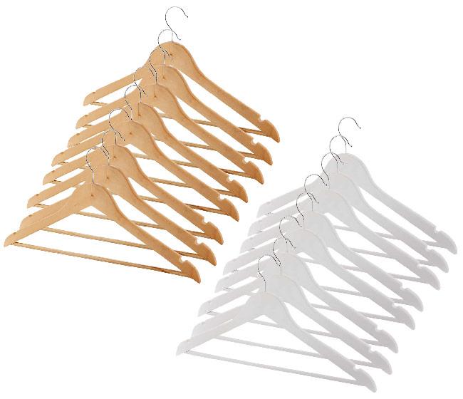 8 wooden coat hangers for £3.49 delivered @ ALDI