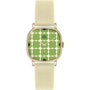 Flash Sale on Orla Kiely Watches @ Watches2U  - Prices now start from just £27.99 with Free Gift Box & Free Next Day Tracked Delivery eg Orla Kiely Ladies Cecelia Green Flowery Cream Leather Strap Watch OK2058 was £115 now £27.99