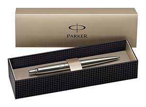 Parker Jotter Stainless Steel Chrome Trim Ballpoint Pen, Gift Boxed - £5.21 on Amazon (add on item)
