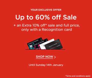 Extra 10% off sale and full price items at House of Fraser for Recognition Card Holders