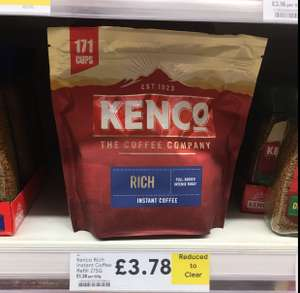 Kenco Rich 275g refill bag rtc @ Tesco £3.78 instore