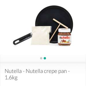 Nutella crepe pan set £8.80 at Debenhams + £2 c&c or £3.49 delivery